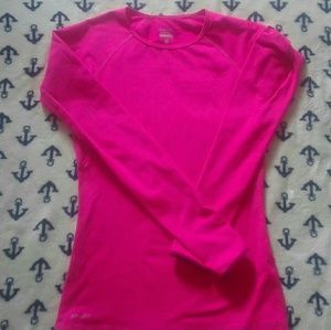 Nike Pro Bright Pink Dri FitLong Sleeve Tee